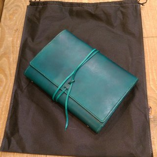 Handmade hand-dyed leather B5 26 hole loose-leaf notebook (free printing, embroidered words)