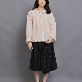 Triangle pleats shirt- long sleeves-rose-fair trade