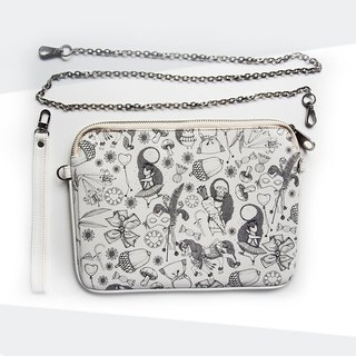 Black White Clutch (Small) - Yin Yang Collection
