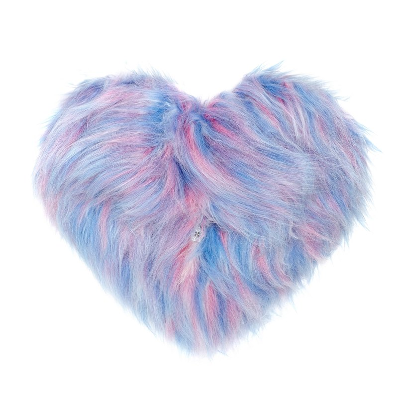 Cotton Candy Furry Heart Clutch