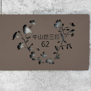 Huajian Huiyan Stainless Steel Rectangular Doorplate adds a sense of belonging to your unique field