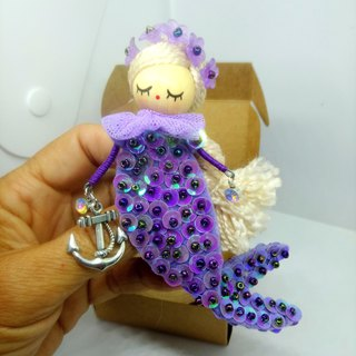 Necklace and brooch Mermaid jewelry doll