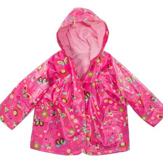 Windproof Waterproof breathable printing warm wind raincoat jacket <butterfly garden>