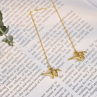 Ermao silver [children's fun brontine solid solid brass hanging earrings] can mix and match dinosaurs into a pair