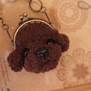Hairy child in the palm of your hand - 6cm VIP dog mouth gold bag