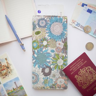 PP07 - Functional travel wallet with fabric lining. Invisible magnets to close.
