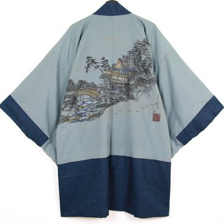 Back to Green Japan brought back a male knit hand-painted forest in vintage kimono