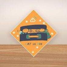 五角星球 /  cat in box-貼紙
