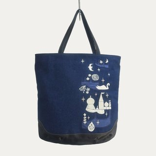 Prince-swan Embroidery・ Square Tote Bag
