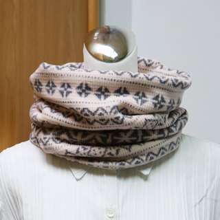 Light pink warm scarf short scarf neck cover double-sided two-color men and women are applicable*SK*