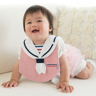 bib-bab MARIN BIB  red-white collar