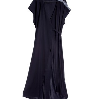 16 autumn and winter sale 16AW silk chiffon stitching strap long dress