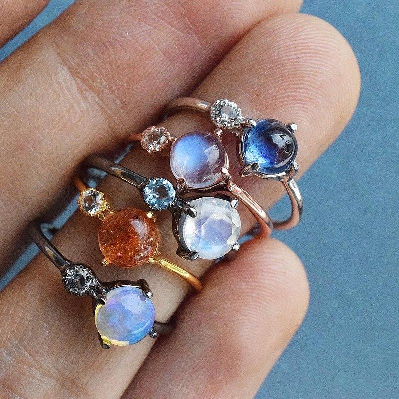 寶石戒指,型號minimbesideu
