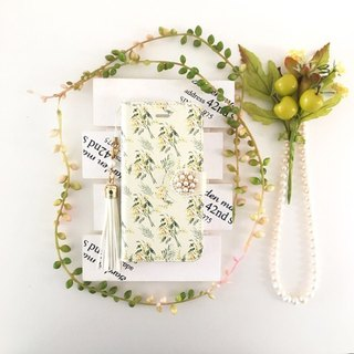 pajour) lightly brilliant watercolor paint mimosa pattern notebook case [pajour] [floral design] [mimosa]