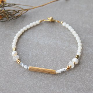 Moonstone brass bracelet 1146 - Imagine