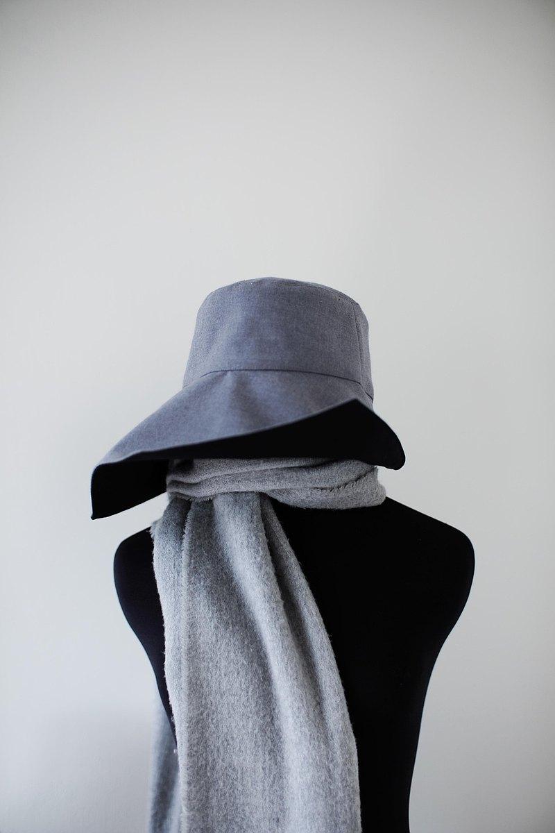 雙面遮陽變化帽-淺灰