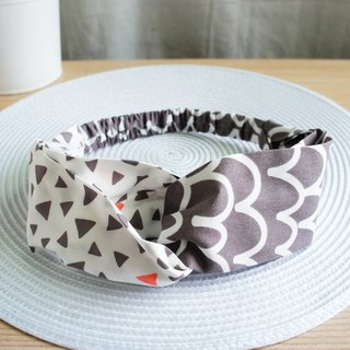 Lovely [Korea cloth triangle wave color geometry] butterfly elastic hair band, hair ring