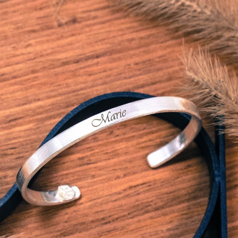 Customized Bracelet / Bracelet Lettering Name Bracelet (Small) English Writing Bracelet B-64DESIGN