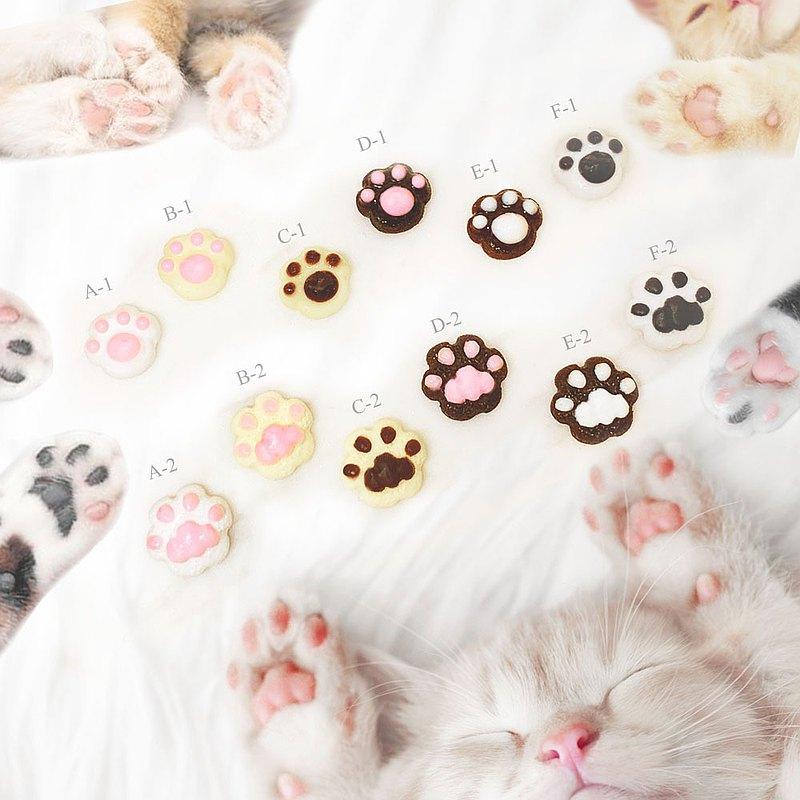 【微距食界】手作 貓咪肉球 耳環(單一隻耳朵耳環)