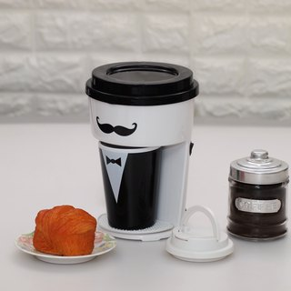 Minimalist One Cup Filter Coffee Maker Machine incl Travel PP Mug - Gentleman