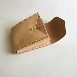 Original color unique taste vegetable tanned leather three-tiered business card holder / business card holder / card holder / card holder / unique / multi-layer / business