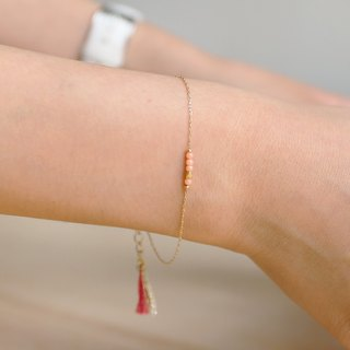 Japanese handmade jewelry - pink beaded young bracelet