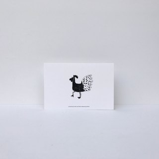 | Chicken | Forest Can Can Card (with Envelope)