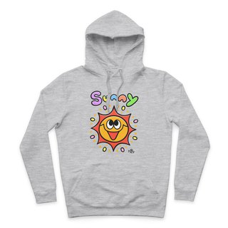 SUNNY- Deep Hemp Grey - Hooded T-Shirt