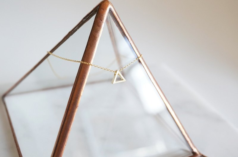 【14KGF】Necklace,Gold Tiny Triangle