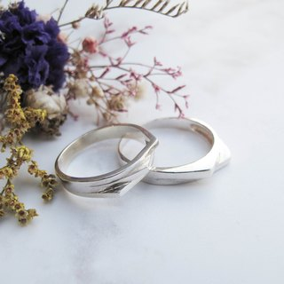 Big staff Taipa [manual silver] 喋喋 (stacks) × sterling silver couple ring