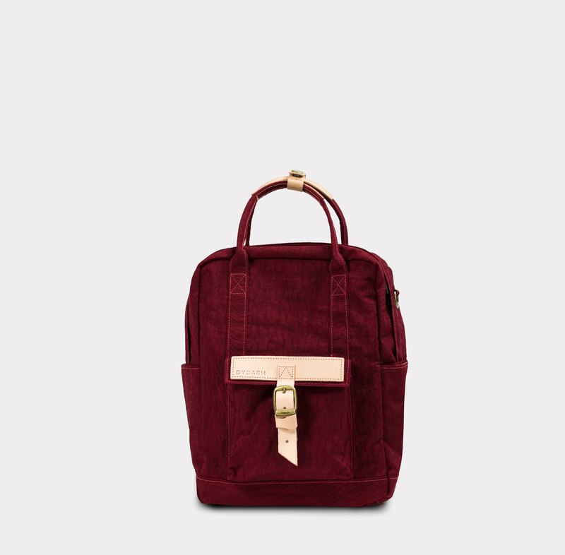 【 ZeZe Bag Small】DYDASH x 3way hand bag/shoulder bag/backpack/(Small Bordeaux Bubble)