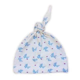 [Deux Filles organic cotton] blue leaves with baby cap