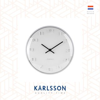 Karlsson, Wall clock Elevated dome glass, White