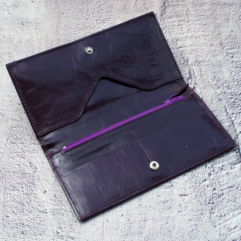 Wax Sense Antique Leather Long Clamp Violet (4 Cards)