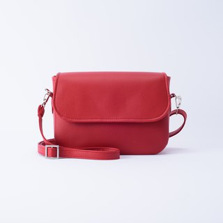 Rounded Side Backpack Mira Red / Beautiful Red