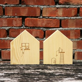 【Yellow Cedar】House Bookend