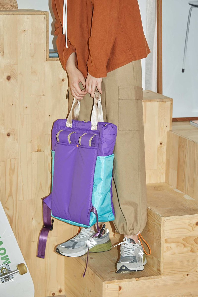 japfac Baggy bag 紫色 & 海藍色