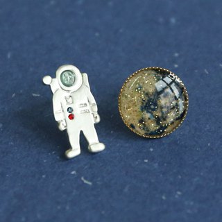 Japanese Handmade Ornaments - Spaceman Earrings