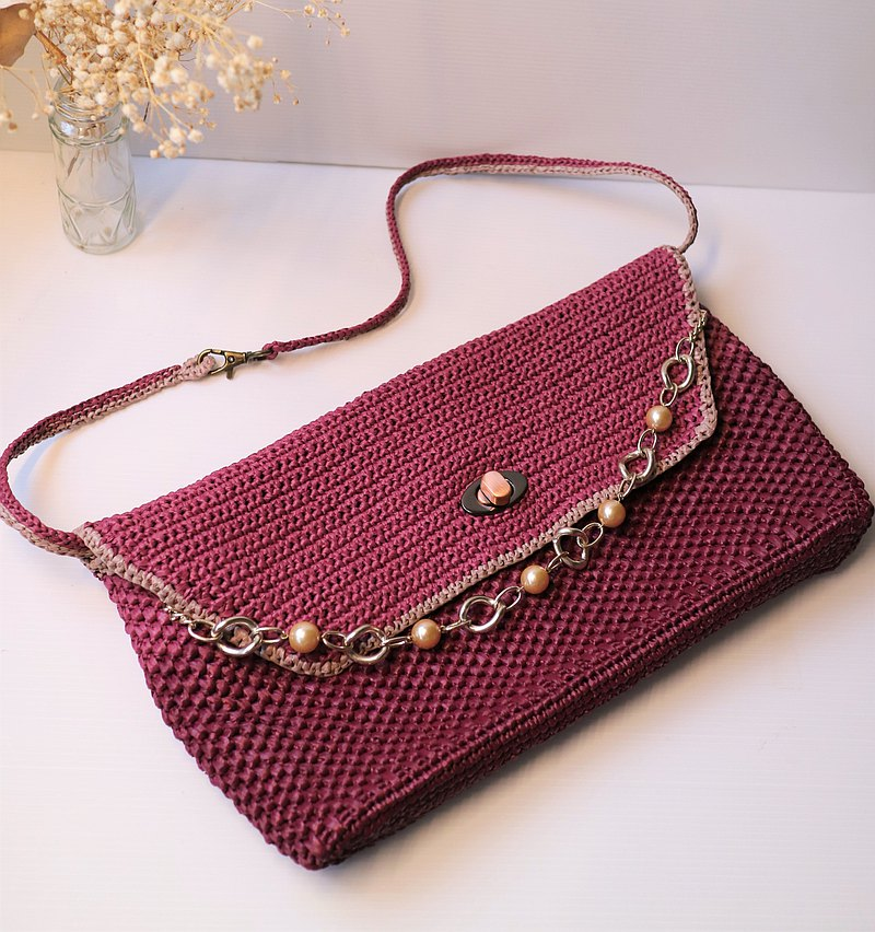 handmade Crochet bag clutch present for mom