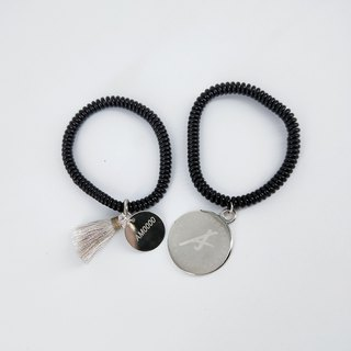 AM0000 brand recognition seamless hair ring / bracelet