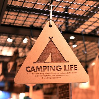 Camping life triangle tag