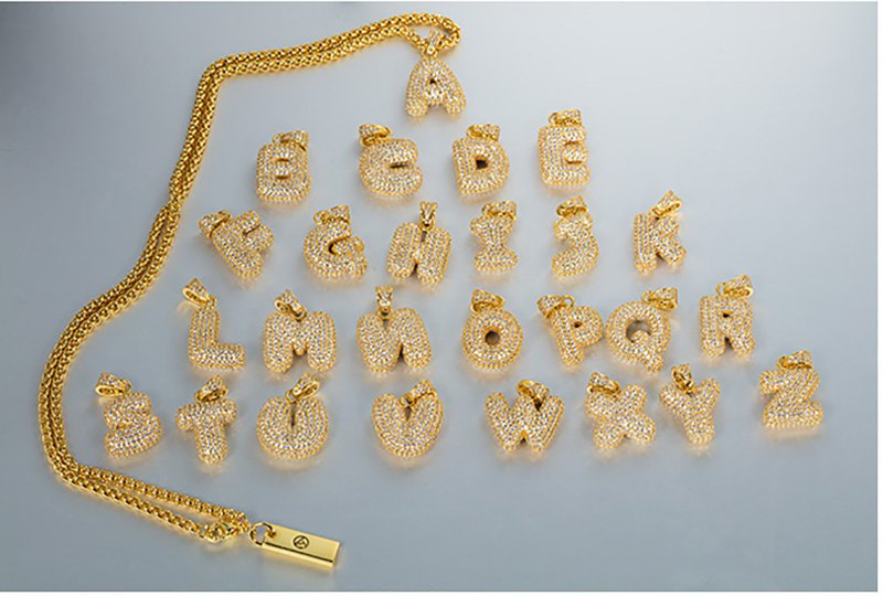 LOST GENERAL summer new product golden letter pendant necklace 26 letters full
