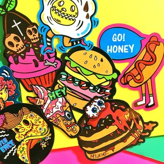 Bad food portfolio - ten groups / stickers