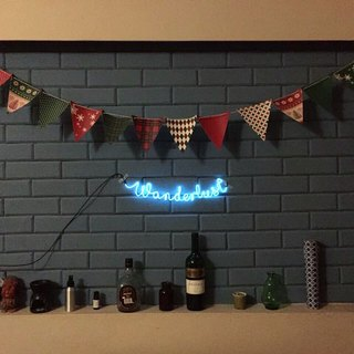 neonlite custom made wording light  /wanderlust/