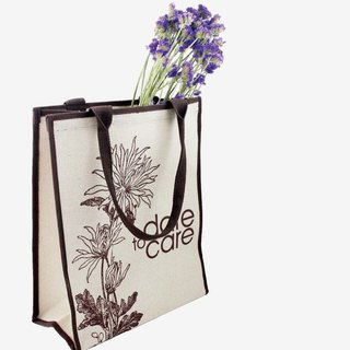 Chrysanthemum Tote Bag [Bao Te bottle recycling environmentally friendly fiber fabric]