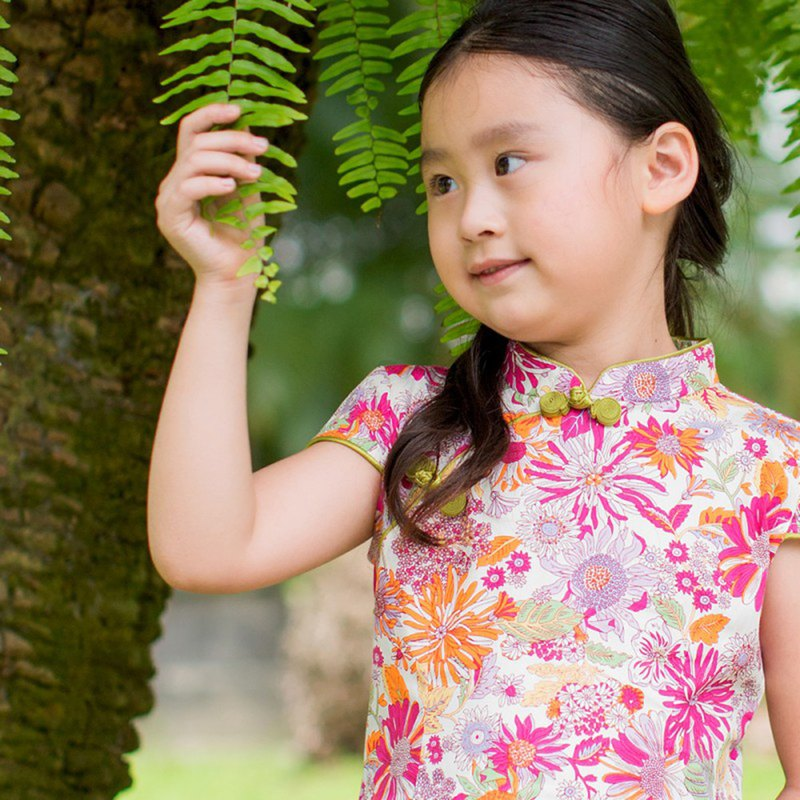 Children's cheongsam ancient style four seasons summer love song