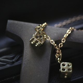 Small Dices Charm Necklace by Defy - Statement Pendant Jewelry - Accessories