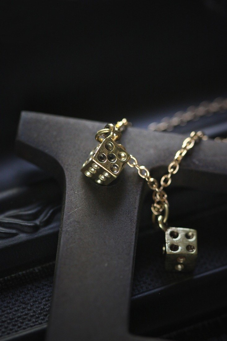 Small Dices Charm Necklace by Defy.