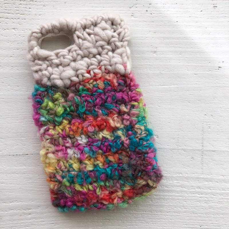 iPhone case  chunky knit pink mix