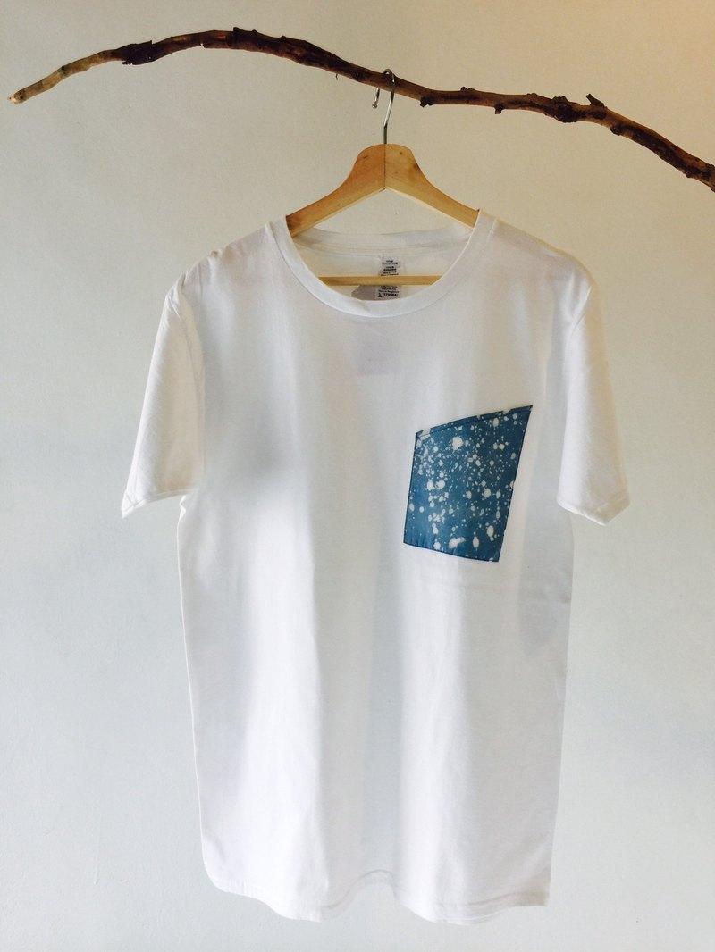 自在染isvara 手工藍染 宇宙系列 入口 純棉T-shirt
